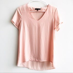Anthropologie Ro&De Short Sleeve V Neck Blouse